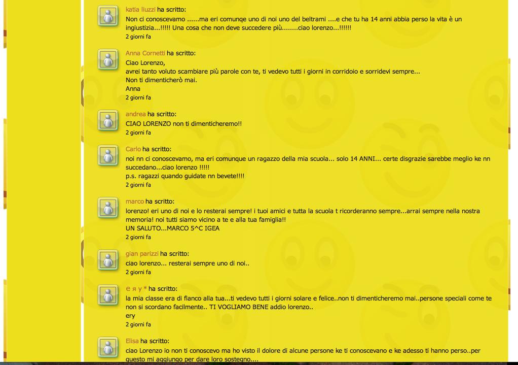 Commenti sul sito Beltrami, pagina 1