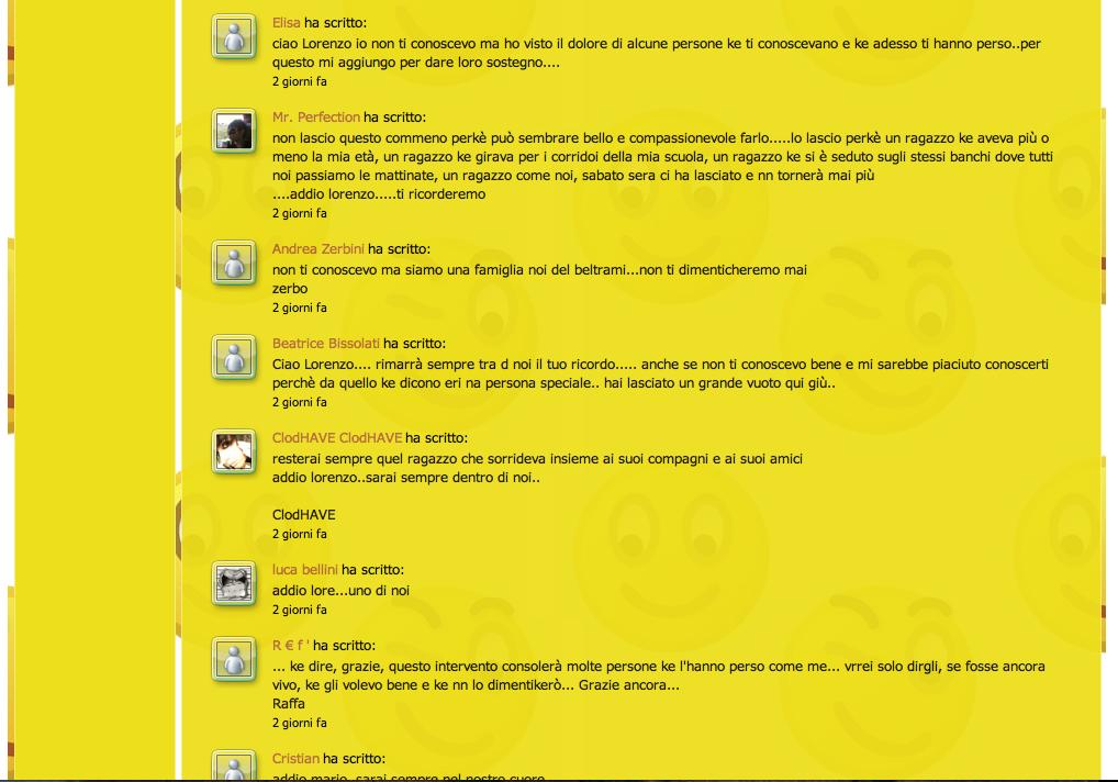 Commenti sul sito Beltrami, pagina 2