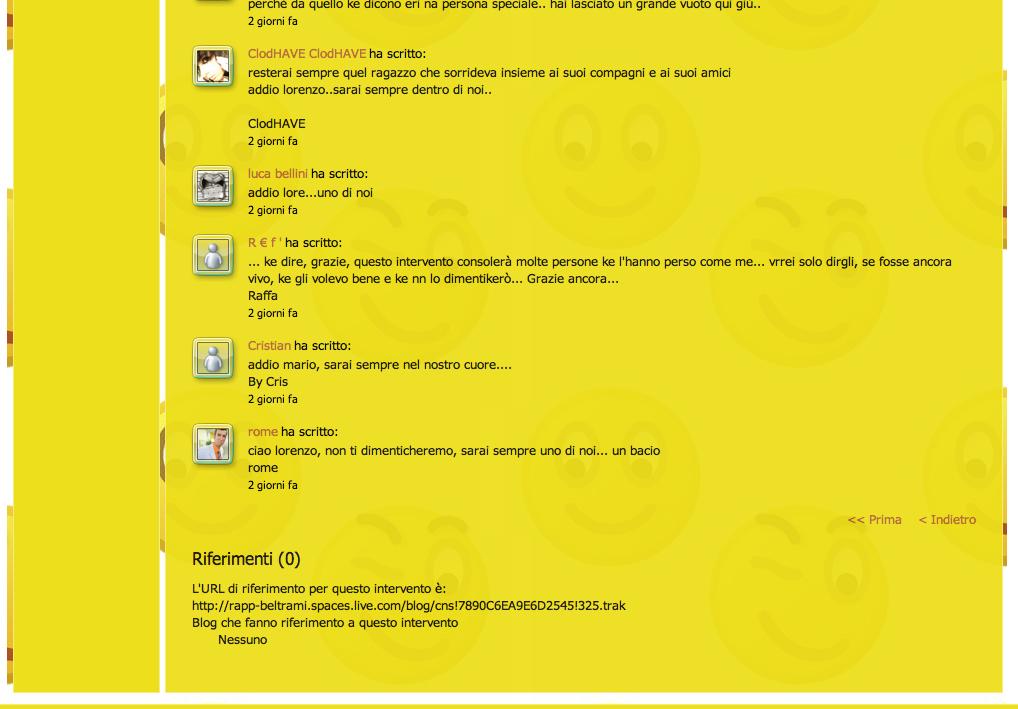 Commenti sul sito Beltrami, pagina 3