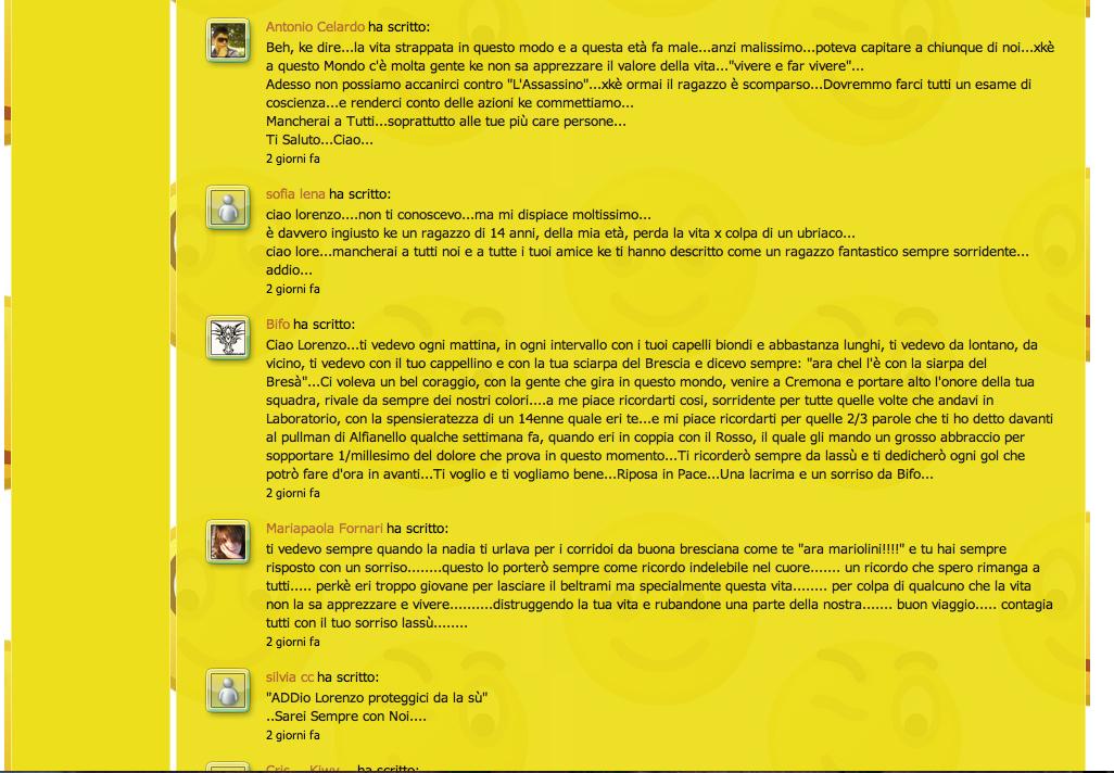 Commenti sul sito Beltrami, pagina 5