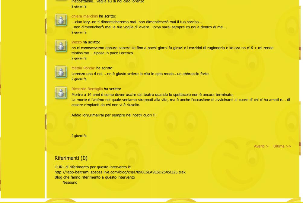 Commenti sul sito Beltrami, pagina 7